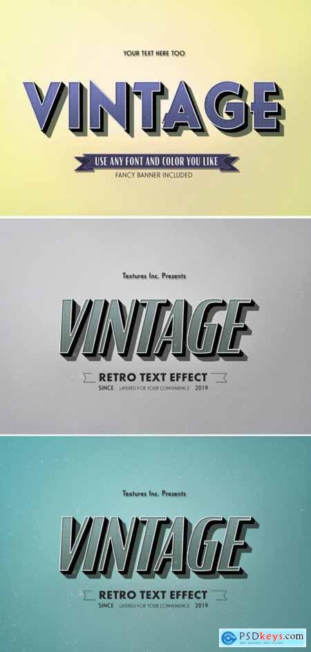Teal Vintage Text Effect 313164101