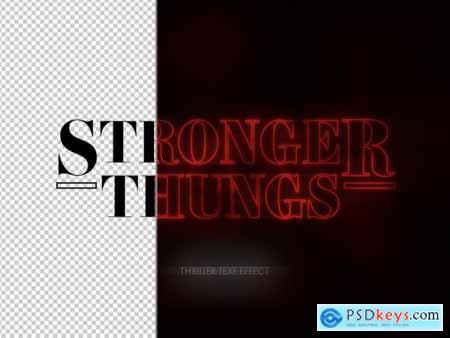 Red Stroke Thriller Movie Text Effect 313164078