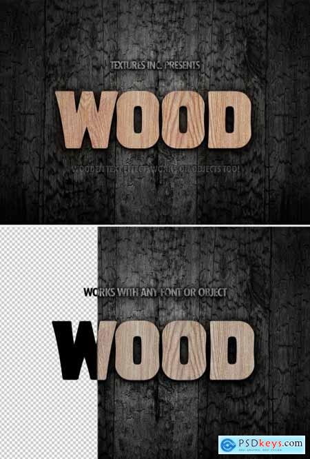Wood Grain Text Effect 313164176