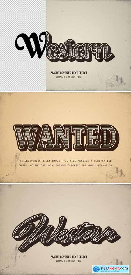 Western Style Text Effect 313164353