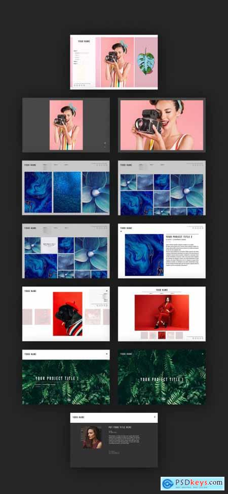 Website Layout with Image Grids 313150838