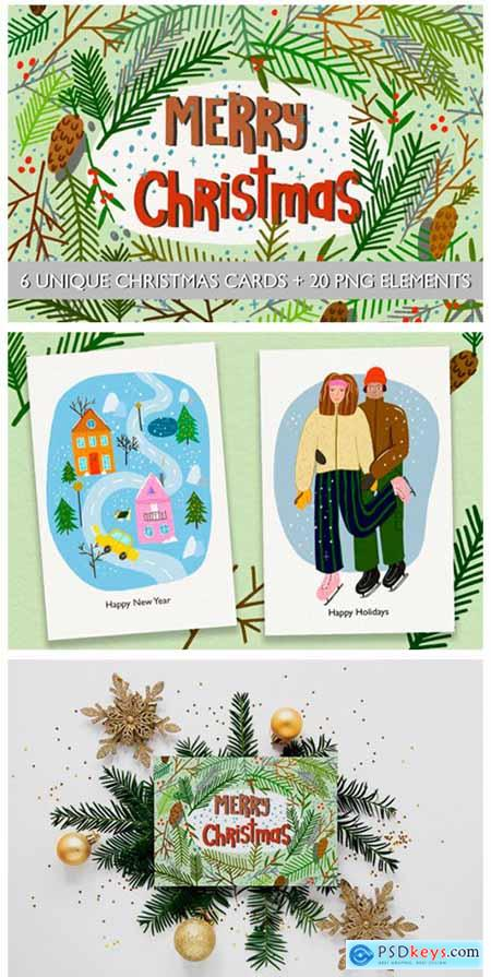 Christmas Cards--20 Elements 2227987