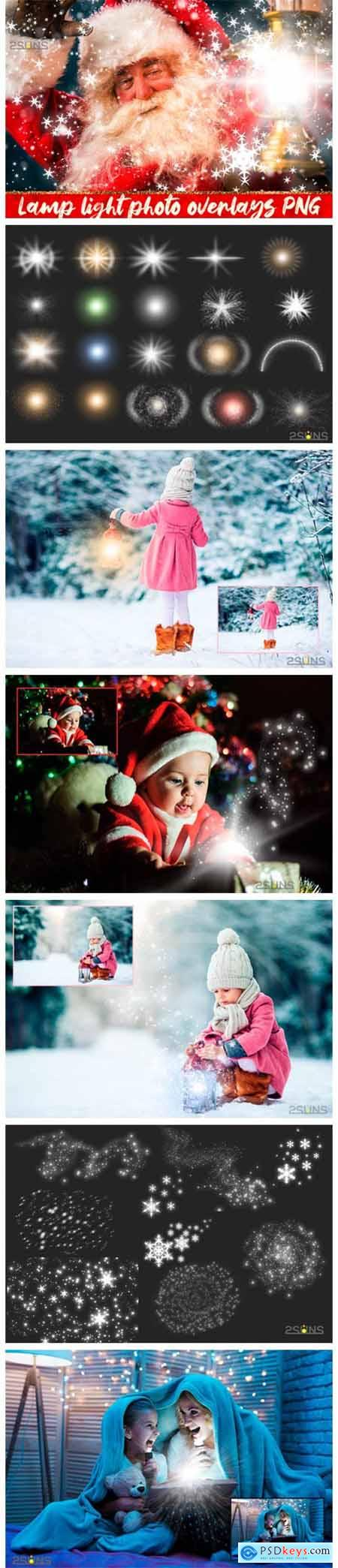 30 Christmas Photo Overlays Lamp Lights 2130046