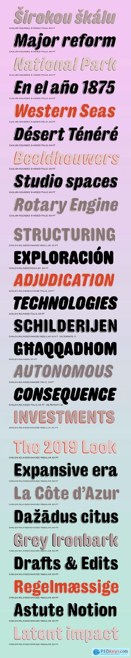 Caslon Rounded Font Family