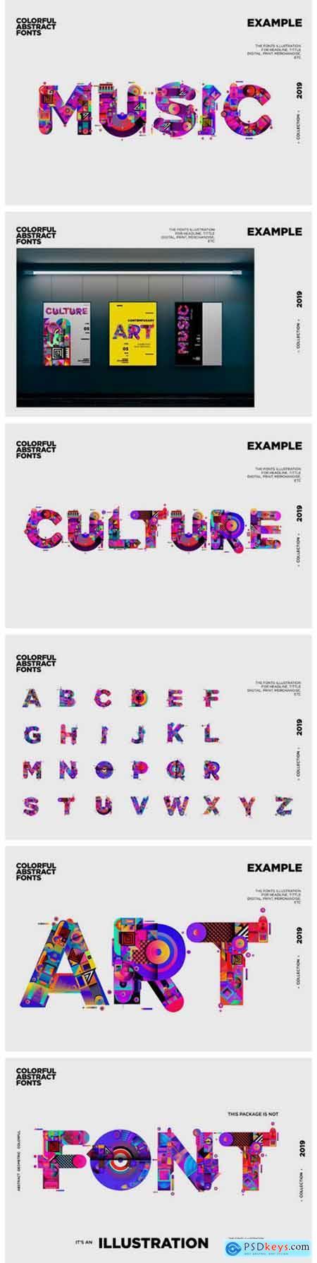 Colorful Alphabets Font Illustration 2296583
