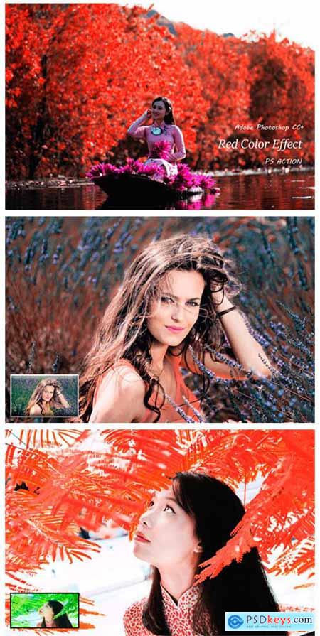 Red Color Effect Ps Action 2127499