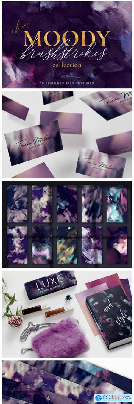 10 Seamless Brushstroke Digital Papers 2128495