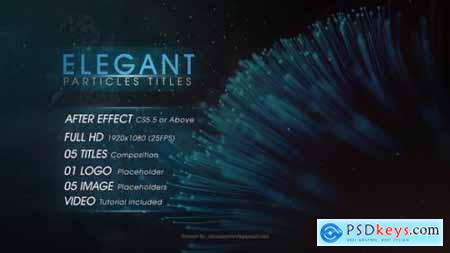 Videohive Elegant Particles Titles 22573217