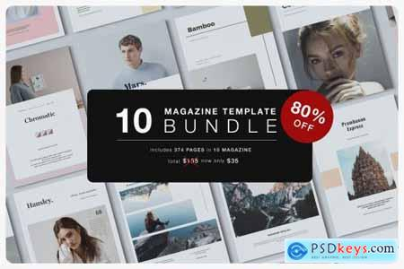 Magazine Template Bundle + Bonus 4284427