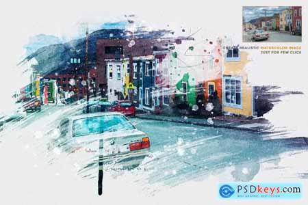 Watercolor Photo Template 4434806