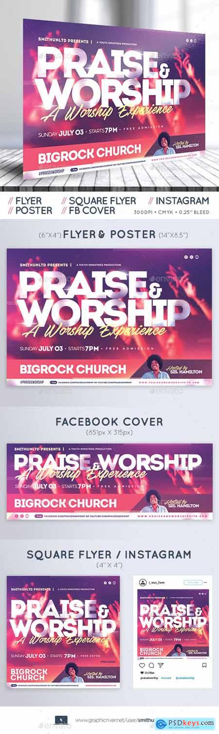 Praise and Worship Flyer - The Experience - Complete Set 23255399