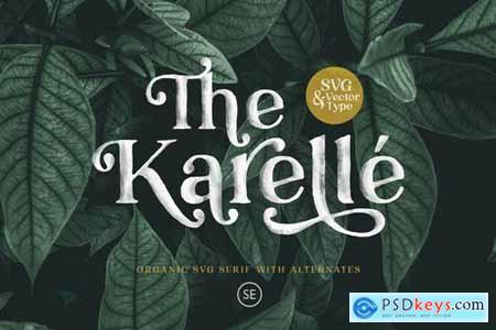 Karelle SVG - An Organic Serif 4368871