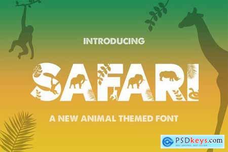 Safari Silhouette Font 4442613