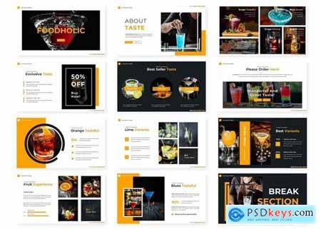 FoodHolic - Powerpoint Google Slides and Keynote Templates