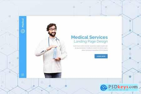 Medical - Hero Banner Web Page Template