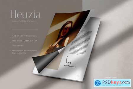 HEUZIA Creative Agency Portfolio Brochures