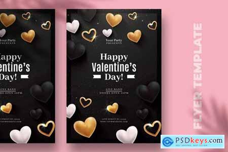 Valentines Day Luxury Flyer Template