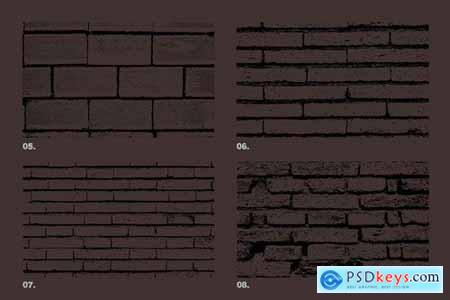 Vector Brick Wall Textures x12