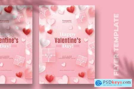 Pink Valentines Day Flyer Template