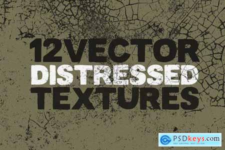 Vector Distressed Textures x12