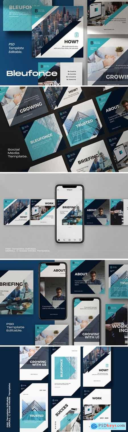 Bluefonce Pack 1- Corporate Social media Kit