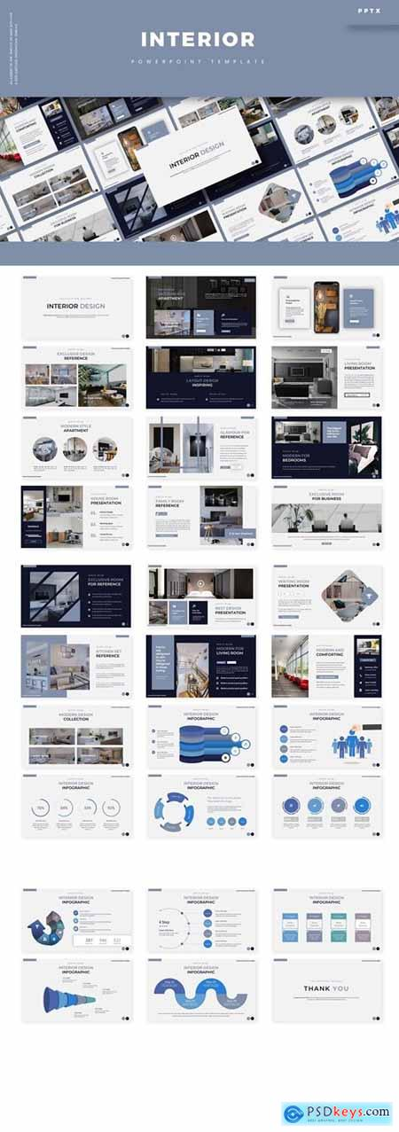 Interior Powerpoint, Keynote and Google Slides Templates