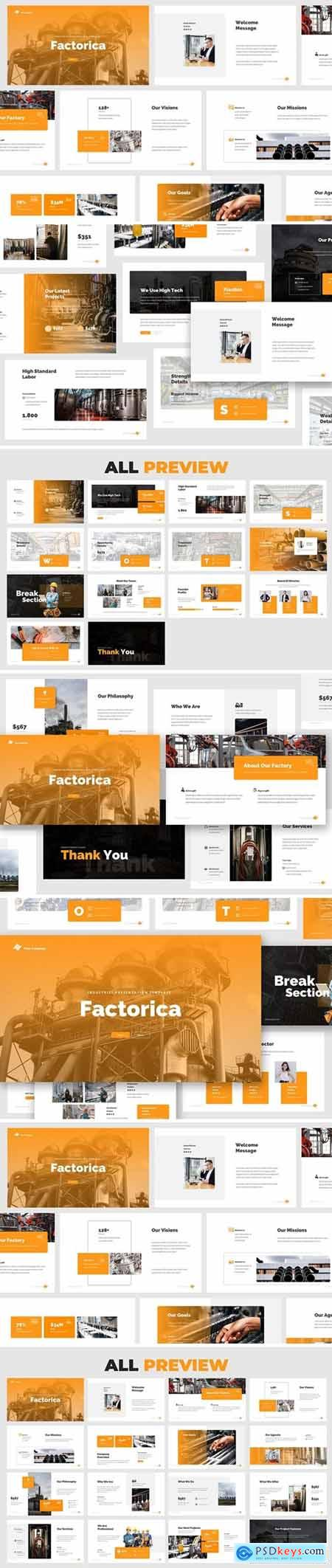 Factory & Industrial Powerpoint, Keynote and Google Slides Templates