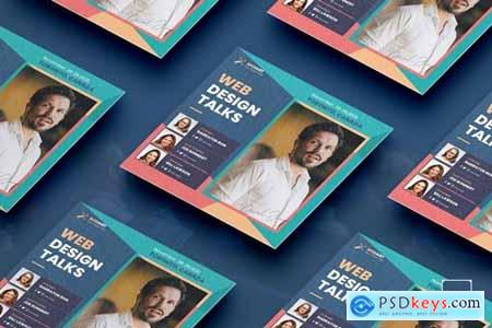 Conference Square Flyer PSD Template Z7UVP9D