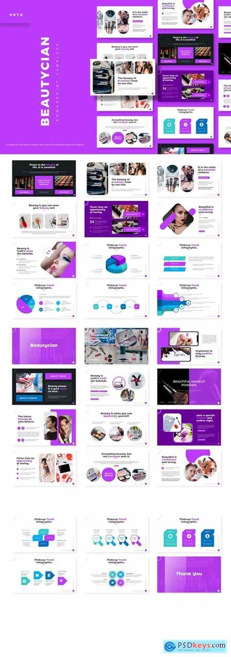 Beautician Powerpoint, Keynote and Google Slides Templates