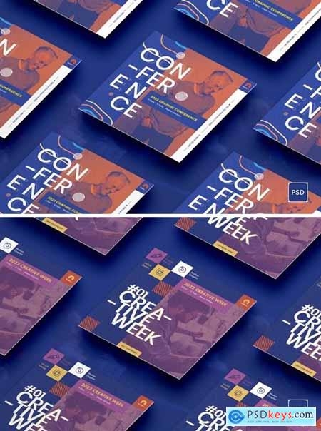 Conference Square Flyer PSD Template