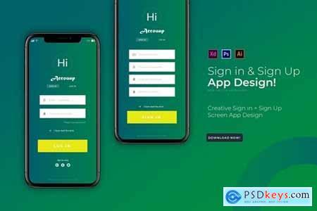 Accouapp Sign In & Login - App Template
