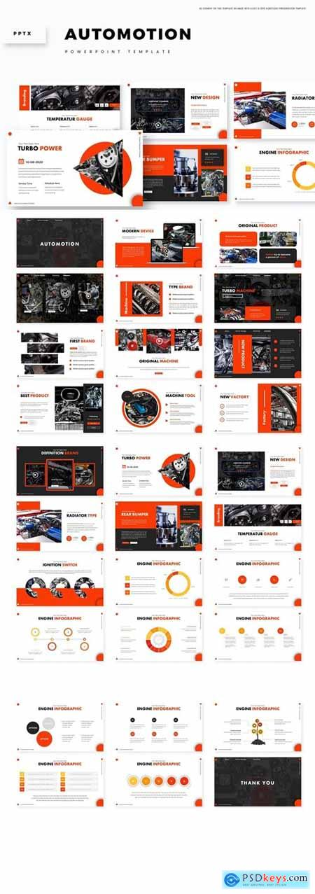 Automoion Powerpoint, Keynote and Google Slides Templates