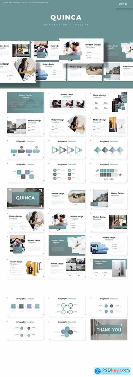 Quinca Powerpoint, Keynote and Google Slides Templates