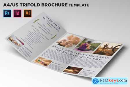 City Hotel Trifold Brochure Template 4445191