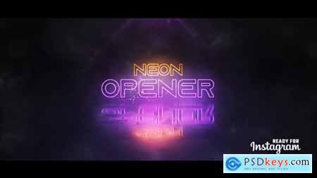 Videohive Neon Logo Opener 24168138