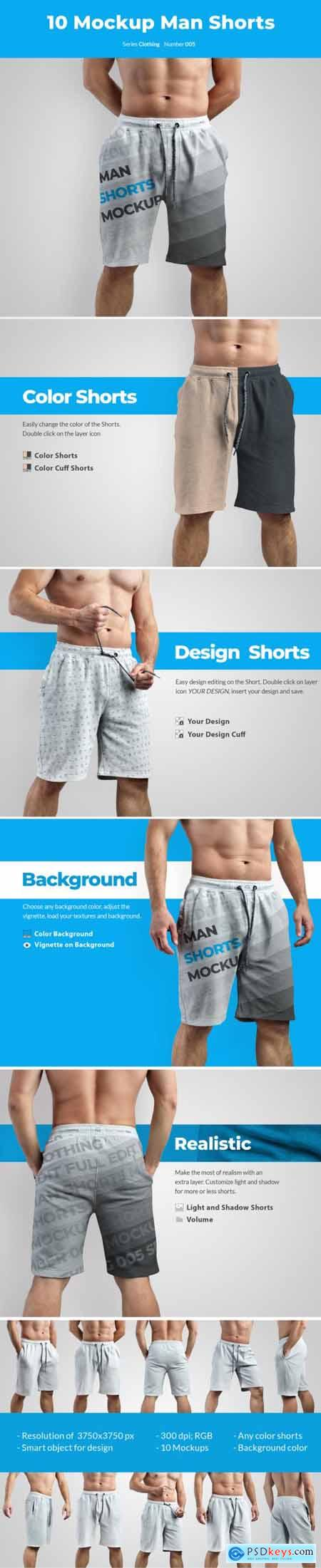 10 Mockups Athletic Shorts Man 53517