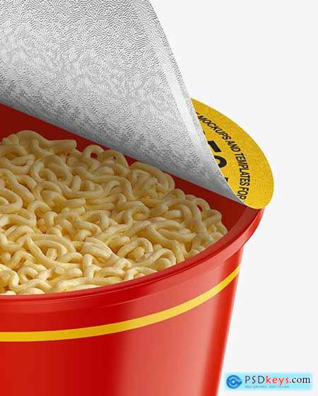 Glossy Noodle Cup Mockup 53442