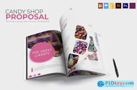Candy Shop Brochure Template