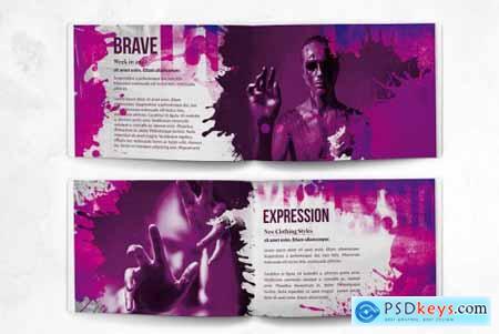Portfolio Design - A5 Horizontal Bifold - 20 Pages