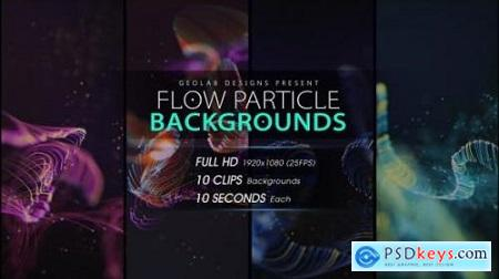 Videohive Flow Particles Backgrounds 23711591