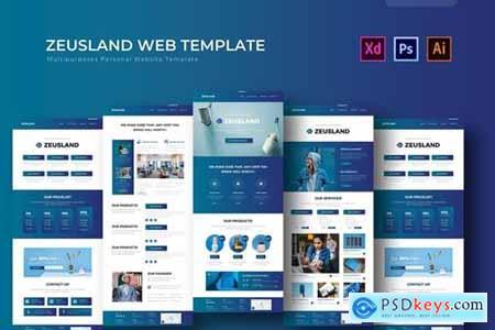 Zeusland - PSD Web Template