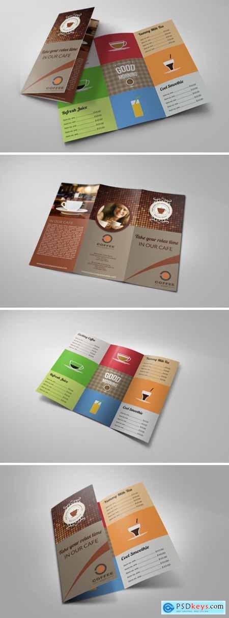 Cafe and Coffee Shop Menu Tri-Fold 2439602