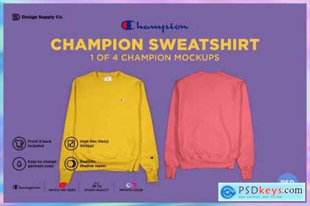 Champion Sweatshirt Mockup 4331780