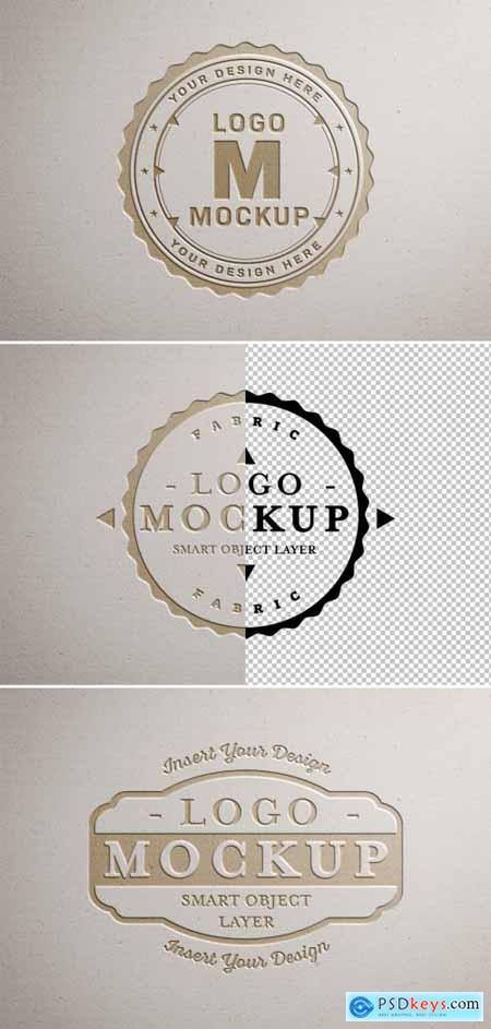 Paper Pressed Logo Mockup 312949841