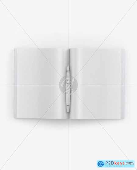 Textured Magazine Mockup 51547