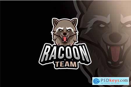 Racoon Team Esport Logo Template