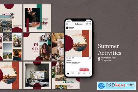 Summer Activities - Instagram Post Template