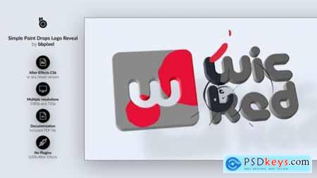 Videohive Simple Paint Drops Logo Reveal 23181200
