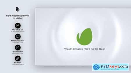 Videohive Flip & Ripple Logo Reveal 13036066