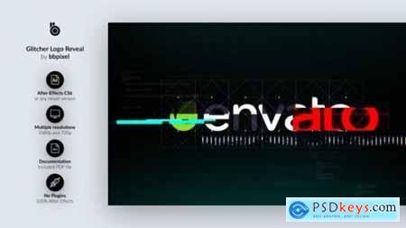 Videohive Glitcher Logo Reveal 19447511